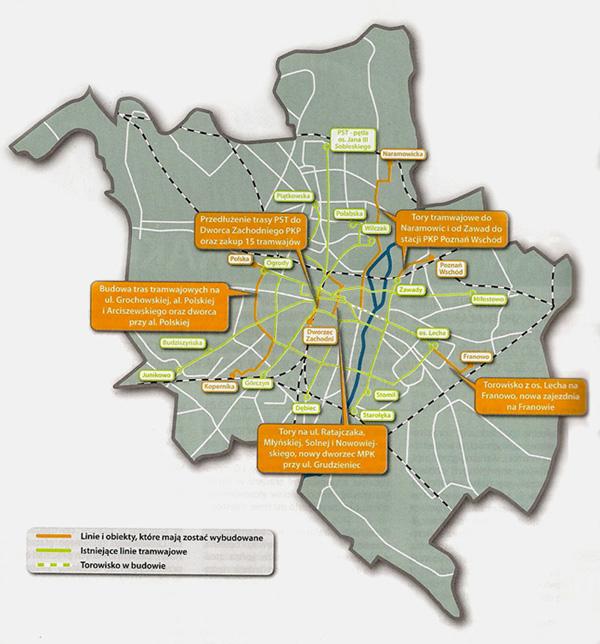 Mapa z planowanymi inwestycjami